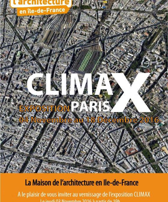 CLIMAX / le projet Tetra Incognita exposé à Paris !